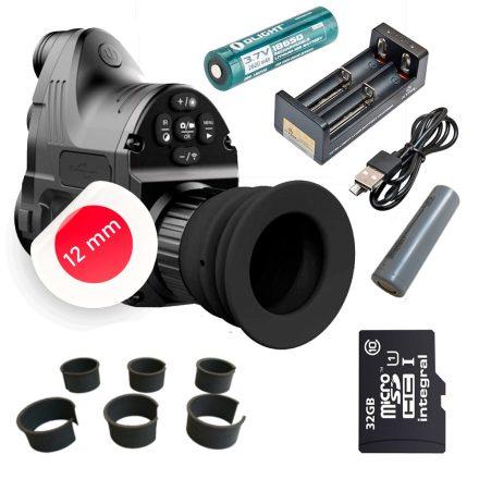 PARD NV007A 12mm éjjellátó / céltávcső előtét OKOS SZETT - gyűrű+extra akku szett+16 GB microSD