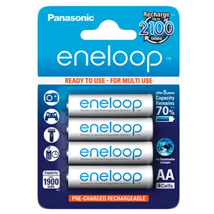 Panasonic Eneloop AA battery 1900mAh - 4pcs
